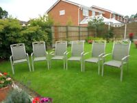 Matching Set 6 Lightweight Garden Chairs