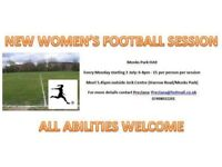 Women's football sessions