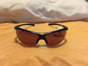 Black-framed sunglasses