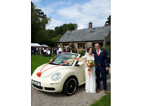 WEDDING CAR HIRE LEICESTERSHIRE, Rutland, Warwickshire, VW Beetle & Jaguar XJ8 in the East Midlands
