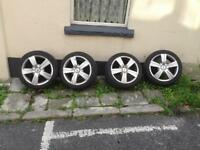 Alloy wheels 16 inch great tread on tyres