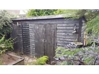 Large Shed - 15x8 ft Double Door Room and Single Door Room with Power Sockets