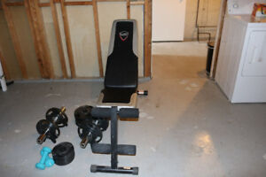 Weight Set plus bench
