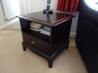 Dark Wood Stag Telephone/Bedside Table in Mahogany/Rosewood