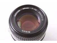 Nikon NIKKOR 50mm f/1.4 AIS Lens RRP $459.95 on BHPHOTOVIDEO, MINT condition