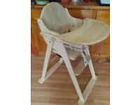 Solid wood high chair