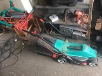 Bosch rotak lawnmower with grass box bargain £25