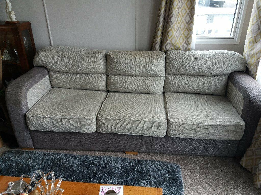 3 Seater Sofa Bed Out Of Static Caravan Also 2 Seater 8