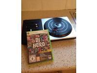 Xbox360 dj controller boxed plus dj hero game