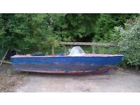 speed boat, speedboat fibre glass 4/5 seater