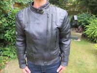 Ladies Leather Biker Jacket, Excellent Condition