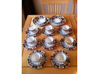 Vintage tea set cake stands. Wedding centrepieces