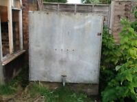 Large galvanised water tank