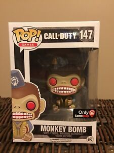 Funko Pop Monkey Bomb Exclusive (x2) Game stop Call of Duty