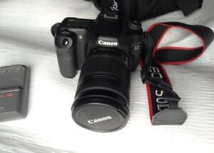 Canon 50D camera with EFS18-200mm lens and Camera bag