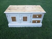 Shabby chick pine storage unit