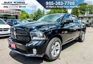"2014 Ram 1500 SPORT CREW CAB 4X4, 8.4"" DISPLAY, BACK-UP CAM, BLU"