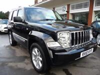JEEP CHEROKEE 2.8 LIMITED 5d AUTO 175 BHP (black) 2010
