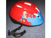 Fireman themed cycle helmet