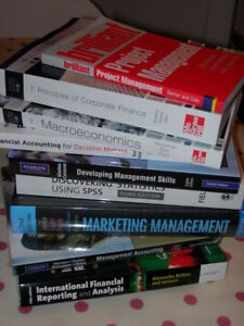 LAURIER LAZARIDIS MBA Business Textbooks WANTED!