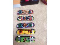 Mini Tech deck skateboards