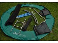 8 Ft garden trampoline disassembled