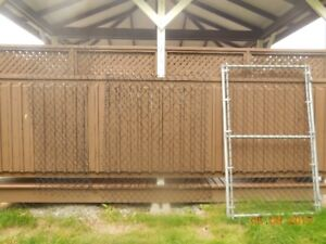 6' High Galvanized Residential Chain Link Gate