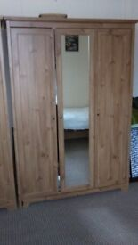 TWO DOUBLE WARDROBES & TOOLS