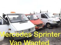 Mercedes Sprinter Van Wanted