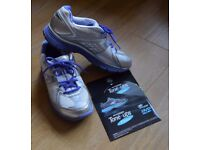 Ladies Skechers Tone-ups, Silver/Lilac, Gently Used, Size 5