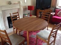 1960s/1970s Retro Extendable Dining Table and 4 Chairs-GPlan