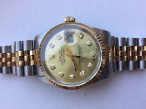 Rolex Datejust two tone with diamond dial