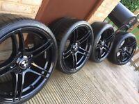 """Genuine BMW 1 3 Series 19"""" 313 M Sport Alloy Wheels & Tyres E90 E91 E92 E93"""