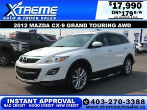 2012 MAZDA CX-9 GRAND TOURING $179 B/W APPLY NOW DRIVE NOW