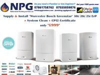SUPPLIED & FITTED Worcester Bosch Greenstar 30i New ErP Model Combi £999 (RRP £4K) Summer OFFER Only