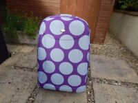 Purple and Grey Suitcase