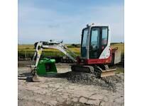 Digger Hire. Plant Hire. Mini Forklift Hire