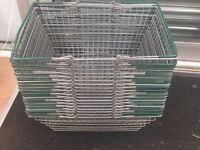 15 metal shopping basket