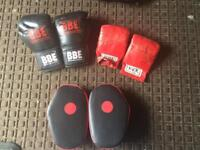 Boxing Accessories Gloves and Pads