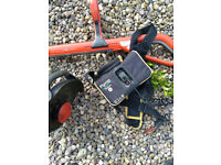 Flymo Hedge trimmer with battery pack b&q cost £100