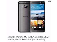 Brand New Boxed HTC One M9 - 32 GB 4G LTE Smartphone 20 Mega Pixel Camera Unlocked - Grey Gunmetal