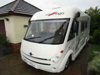 2012 Carthago Tourer i142 4 Berth Large Rear Garage Fixed Rear Bed For Sale