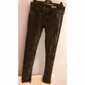 Black patterned jeans H&M size 10