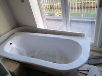New D shape Bath