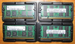 DDR and DDR2 laptop RAM and WiFi cards for laptops