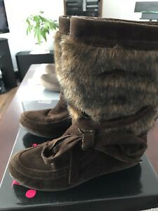 Furry boots