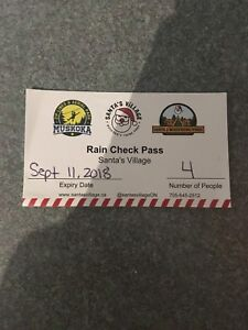 Going to Santa's Village - 4 Tickets available