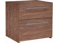 Ex Display Atlas 2 Drawer Bedside Chest - Walnut Effect