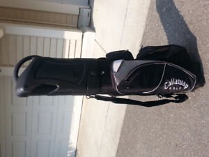 Callaway Golf Hybrid golf bag and hard cover travel bag in one.