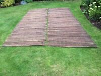 Bamboo fencing,garden hedging and plastic turf